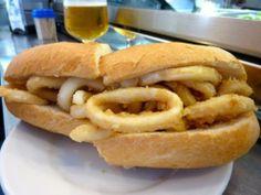 Bocadillo de calamares (Calamari Sandwich)