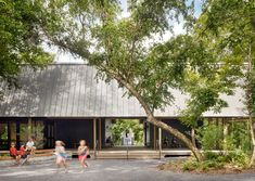Pine pavilions form Marine Education Center in Mississippi by Lake Flato Architects Ocean Springs Mississippi, Lake Flato, Canada House, Covered Walkway, Arch House, Marine Environment, Pedestrian Bridge, Education Center, Arquitetura