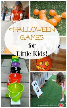 The best Halloween games for the classroom or a Halloween party for little kids and preschoolers! These are fun Halloween games for kids great for inside AND outside! Stack the ghosts, spiderweb toss, pumpkin bowling, Balloon pumpkin stomp, and more! Kindergarten Halloween Party, Halloween Class Party, Halloween Activities For Kids, Halloween Tags, Halloween Carnival, Kids Party Games, Toddler Halloween Games, Halloween Birthday, Preschool Ideas