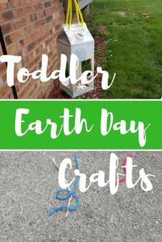 Two super easy and toddler friendly Earth Day crafts!