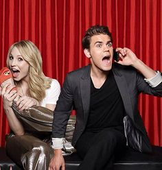 The Vampire Diaries - Candice Accola as Caroline Forbes & Paul Wesley as Stefan Salvatore Stefan And Caroline, Caroline Forbes, Vampire Diaries Cast, Vampire Diaries The Originals, Vampire Barbie, Real Vampires, Candice King, Friends Moments, Vampire Dairies