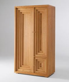 Wardrobe made of natural solid-batten cherry wood board, oil polishing with padded finishing. Art Deco Furniture, Design Furniture, Cabinet Furniture, Fine Furniture, Unique Furniture, Wood Furniture, Vintage Furniture, Muebles Art Deco, Banquettes