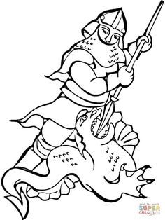 Knight and Dragon Coloring Page Knight and Dragon Coloring Page. Knight and Dragon Coloring Page. Free Knight & Dragon Coloring in dragon coloring page Knight and Dragon Coloring Page Knight Fighting the Dragon Coloring Page Of Knight and Dragon Coloring Page Free Coloring Pages, Coloring For Kids, Dragon Kid, Dragon Coloring Page, Clip Free, Star Wars Books, Fantasy Drawings, Toddler Books, Clipart