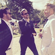 There Are a Whole Lot of Good-Looking Stars at Guy Ritchie's Wedding: Guy Ritchie tied the knot with Jacqui Ainsley in Wiltshire, England, on Thursday, and their nuptials brought out some seriously handsome famous faces.