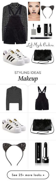 """Last Minute Cat Costume"" by neirak on Polyvore featuring Monki, Cara, adidas Originals, Marc Jacobs, NARS Cosmetics, Givenchy, Torrid and halloweencostume"