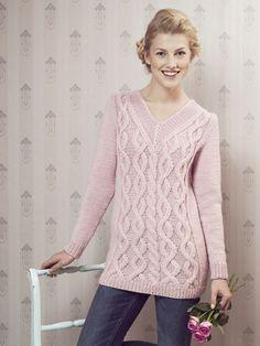 Розовый свитер из Новиты с V-образным вырезом, журнал весна2015