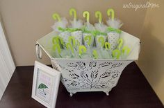 Candy Umbrella Shower Favors - perfect for a rain or umbrella themed baby shower