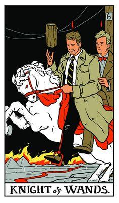 CHESTER DESMOND & SAM STANLEY - Twin Peaks Tarot by Benjamin Mackey