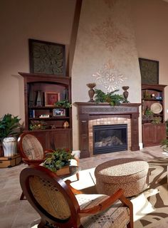 Open living room with natural tones