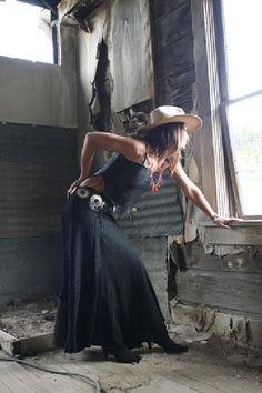 black velvet suede skirt.