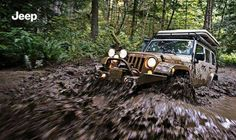 The Jeep Wrangler's off-road capabilities are unmatched.  Check out this Custom Wrangler handle the mud and trails like the beast that it is! #muddin #JeepLife