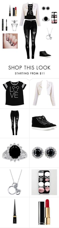 """Sem título #27"" by ren-emily ❤ liked on Polyvore featuring Disney, Chanel, Gianvito Rossi, Christian Louboutin, Avon and Max Factor"