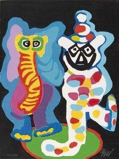 Karel Appel, 'Ils sont de famille', 1978. from oljos-glass-concepts on RubyLUX