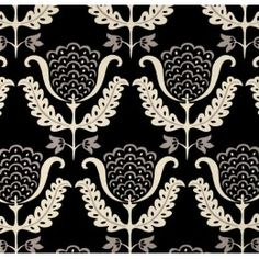 One Wish in Black by Waverly Home Decor Cotton Fabric PO448