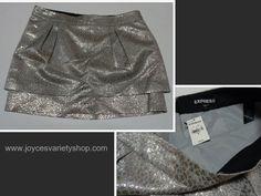 Express Silver Mni Skirt Size 8