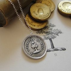 Steadfast - wax seal necklace - Test of time - antique French yew tree wax seal jewelry $59 https://www.etsy.com/listing/82579128/steadfast-wax-seal-necklace-test-of-time?ga_order=most_relevant&ga_search_type=all&ga_view_type=gallery&ga_search_query=jewelry%20tree%20stand&ref=sr_gallery_8