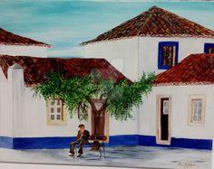 Porto Covo  Quadro pintado a óleo