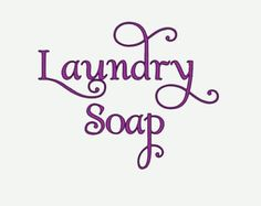 Print These Laundry Soap Labels For Your Homemade Laundry