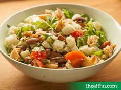 #HealthyRecipe Pita and bean salad: A complete meal in itself with the right amount of Fibre, protein and vitamins.