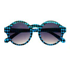 #designer #retro #vintage #sunglasses #shades #round #womens #fashion #cute #trendy #large #black #blue #checkerboard #keyhole
