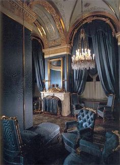 Inspiration for Vale's bedroom.  Art and Interior: SPECIAL SERIES: Bedrooms of the Royals (part 1)