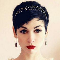 16 Korte pixie kapsels in donkere kleuren waarmee jij voor de dag kunt komen - Kapsels voor haar