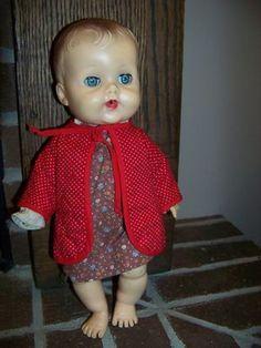 "vintage 1950 Ruth E Newton SunBabe Sun Rubber Babee Bee doll 13"" squeaker squeak (04/13/2013)"