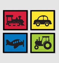 Planes Trains and Automobiles Silhouette Wall Art by BringColor, $42.00