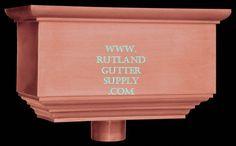 Rutland Gutter Supply has leader head, rain head, copper conductor heads and aluminum hopper heads Copper House, Rain Head, House Trim, Conductors