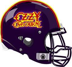 Ozzy Osbourne Helmet from a Fantasy Football League