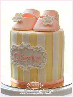 Clean and Simple Baby Shower Cake via Craftsy