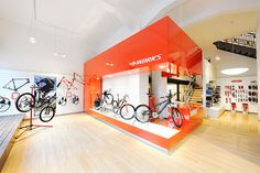 BIKELAND // specialized conceptstore // S-Works Counter // in red - company color