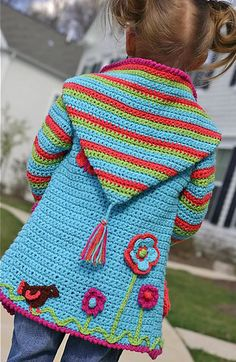 Baby Knitting Patterns Hoodie Ravelry: Crochet Springtime Friends Hoodie pattern by Anji Beane ~ I& li. Gilet Crochet, Crochet Hoodie, Crochet Jacket, Knit Crochet, Ravelry Crochet, Crochet Sweaters, Crochet Cardigan, Mode Crochet, Crochet Girls