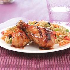 Apricot Chicken Drumsticks Recipe from Taste of Home -- shared by Mary Ann Sklanka of Blakely, Pennsylvania