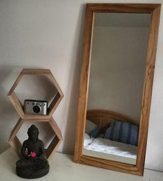 Vintage Spiegel - Spiegel, Spiegelrahmen aus Eiche. Mirror frame aok - ein Designerstück von Hajohinta bei DaWanda
