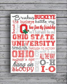 Ohio State Buckeyes Lil\' Man Cave Sign | Nursery/Kids Rooms ...