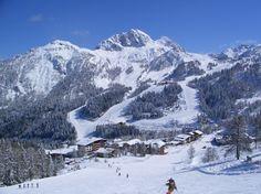 Skiing at Nassfeld, Austria Austrian Ski Resorts, Felder, Vacation Trips, Places Ive Been, Mount Everest, Skiing, To Go, Adventure, Mountains