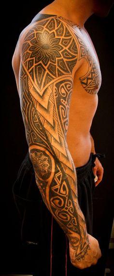 Intricate Tribal Sleeve   Best tattoo ideas & designs