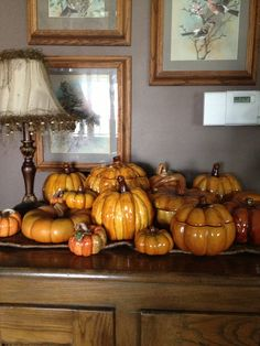 My ceramic pumpkin collection. Getting harder to find nice pieces