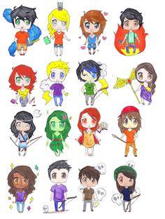 Percy Jackson Fan Art   Percy Jackson Chibis by Ara-bell on deviantART They drew Bianca:)