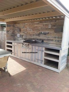 outdoor kitchen made from pallets - Google Search