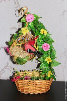 """Топиарии ручной работы. Ярмарка Мастеров - ручная работа. Купить топиарий """" Птичье гнездо"""". Handmade. Топиарий гнездо"""
