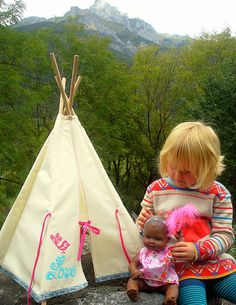 Doll Teepee/Tipi  Love chirpReady to ship by leilalou on Etsy, $52.00