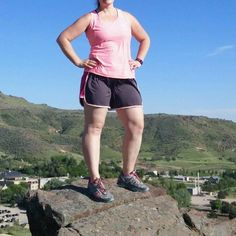 """On a hike my friend said """"let me snap a pic!"""" Ummmm but I'm wearing shorts  Ya feel me? Here's where I'm at 52 pounds down and more to go. I'm proud of how far I've come and my new active lifestyle. This #nofilter pic of my whitey legs is an accurate picture of where I am and someday I'm going to use it as my #during pic.  #weightloss #fatloss #hiking #whitey #intermittentfasting #fasting #fitbit #myfitnesspal #goals #progress by kitkatfitfat"""