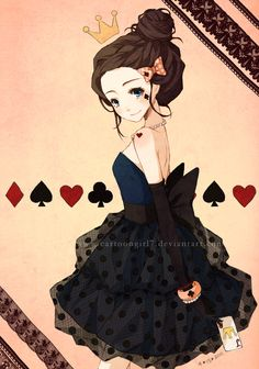 Queen of cards! If you look close enough you can see all the card symbols :D how cool!