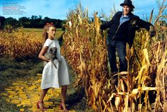 Dressed and Educated: Keira Knightley Plays Dorothy in the Vogue December 2005 Issue's Edition of Wizard of Oz