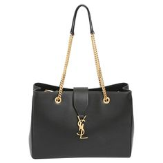 "Saint Laurent - ""Classic Monogram Shopping Bag"" #vintagefashion"