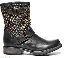 Steve Madden Marcoo #stevemadden #leather #studs #boots #buckle #fashion #gold #pewter #fall #winter