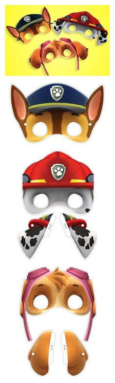 Paw patrol -- inspiration for face painting designs Paw Patrol Masks, Paw Patrol Party, Paw Patrol Birthday, Paw Patrol Face Paint, Third Birthday, 4th Birthday Parties, Boy Birthday, Birthday Ideas, Paw Patrol Full Episodes