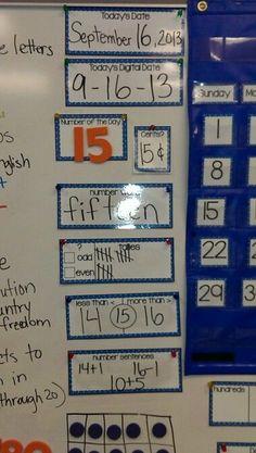 Math Calendar...everything you need-  http://www.teacherspayteachers.com/Product/Calendar-Time-Everything-You-Need-827374  Created by Alma Almazan